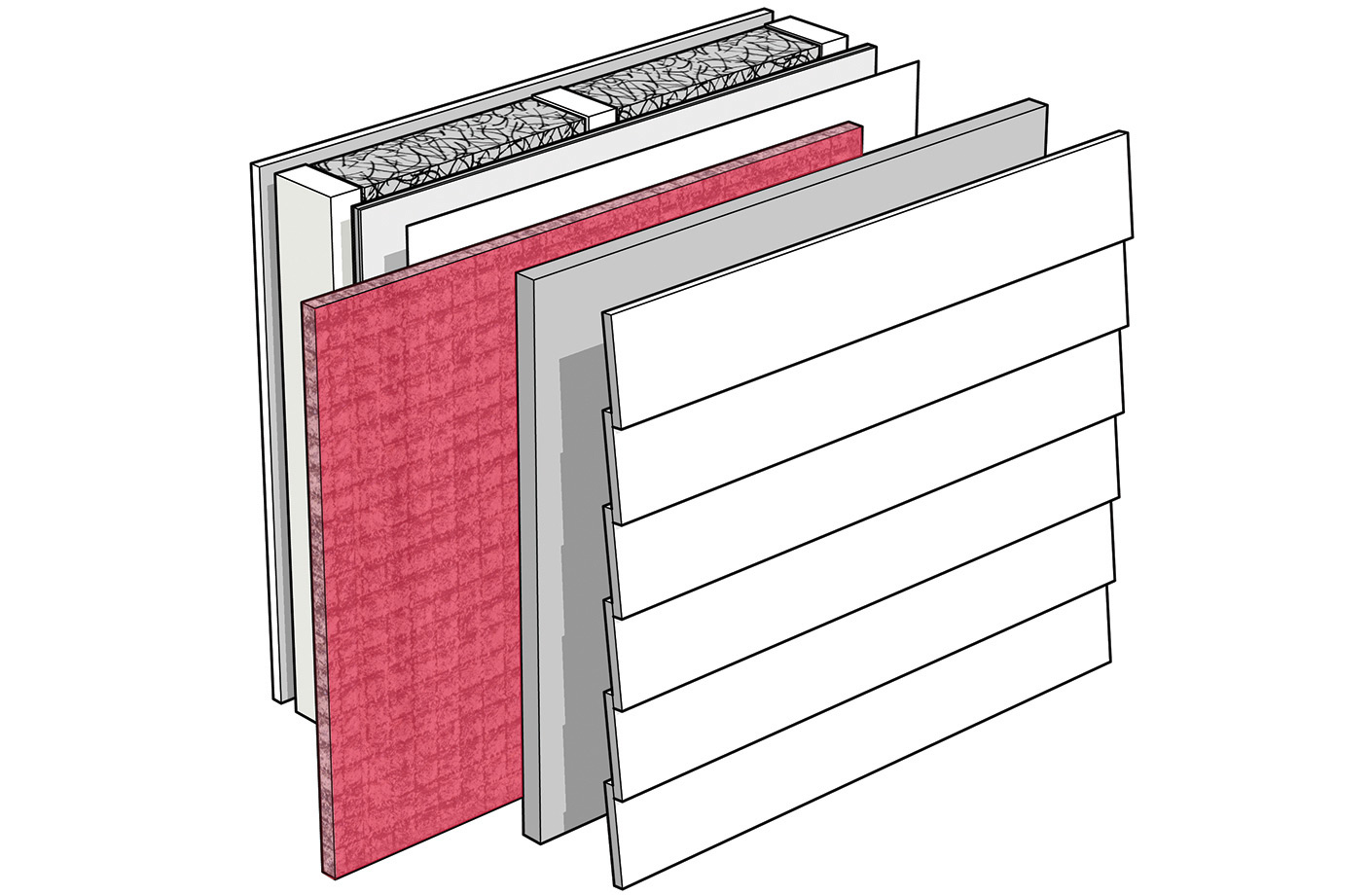 Cement board or wood siding