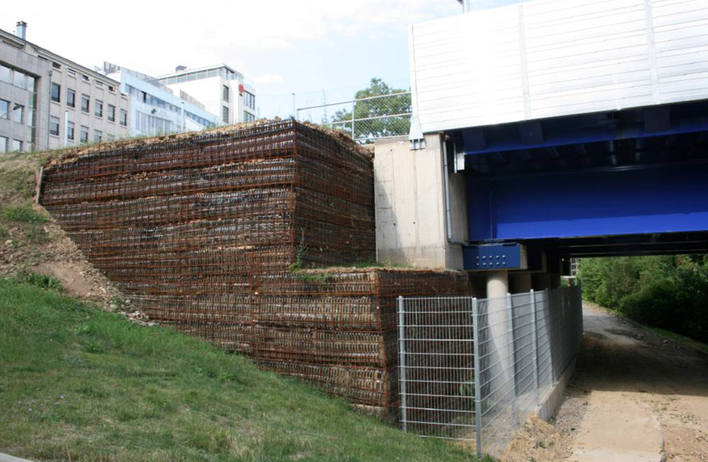 Cost-effective re-use of materials from site