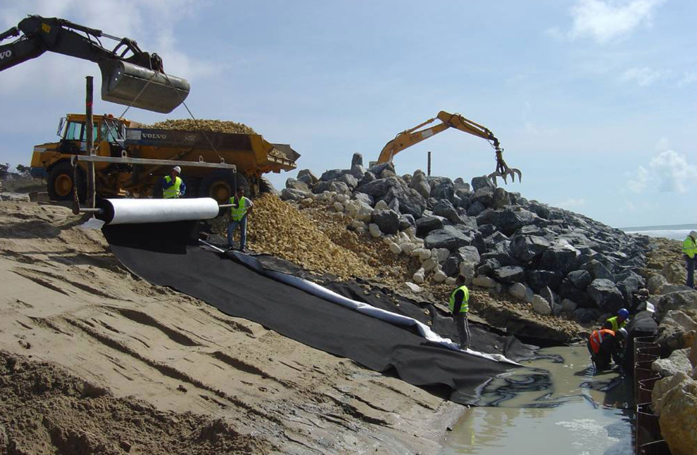 Geotextile solution