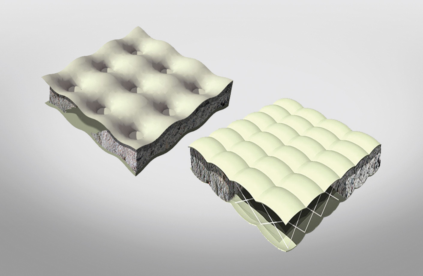 Two layer geotextile mattress